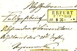 Kurrentschrift aus Erfurt