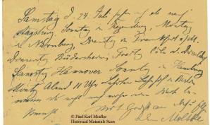 Sample Text in Kurrentschrift