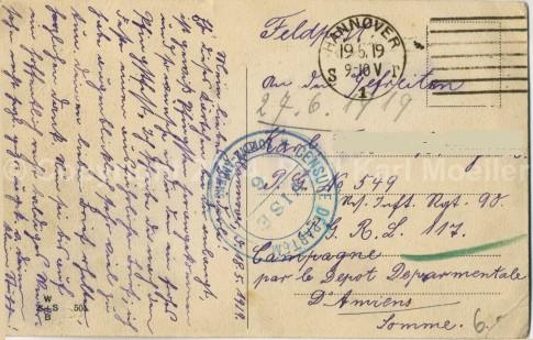 1919 Feldpostkarte