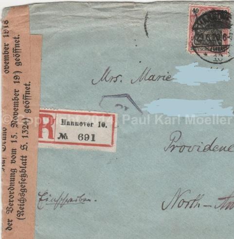 Einscheibbrief, 1920