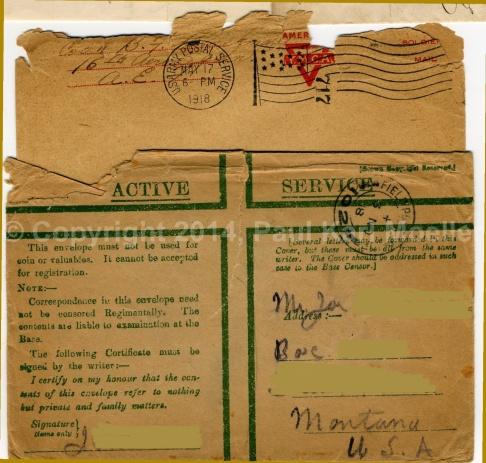 Ami und Englische Feldpost 1918