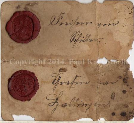 Correspondenz: Freiherrn von Schiller und Haslinger, zwischen 1750 und 1850?