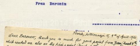 Briefteile, Kriegszeit, 1. Weltkrieg