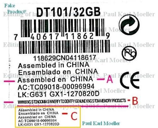 Analysis of Sticker Data on Suspected Counterfeit Pen Drive