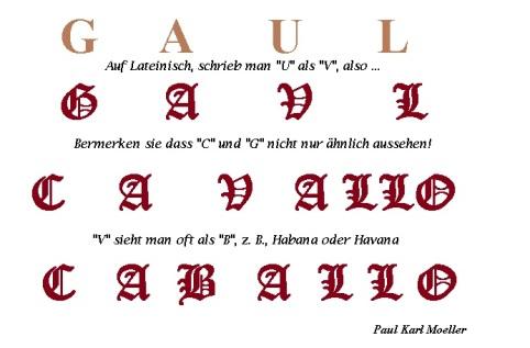 """Herkunft des Wortes """"Gaul"""""""
