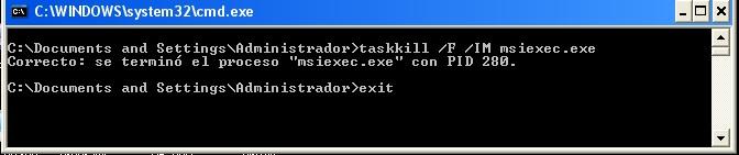 taskkill success