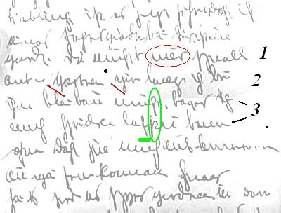 Illiterate or criminal hand-writing