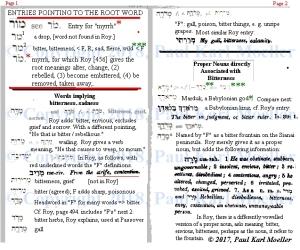 Semitic root M.R.R.