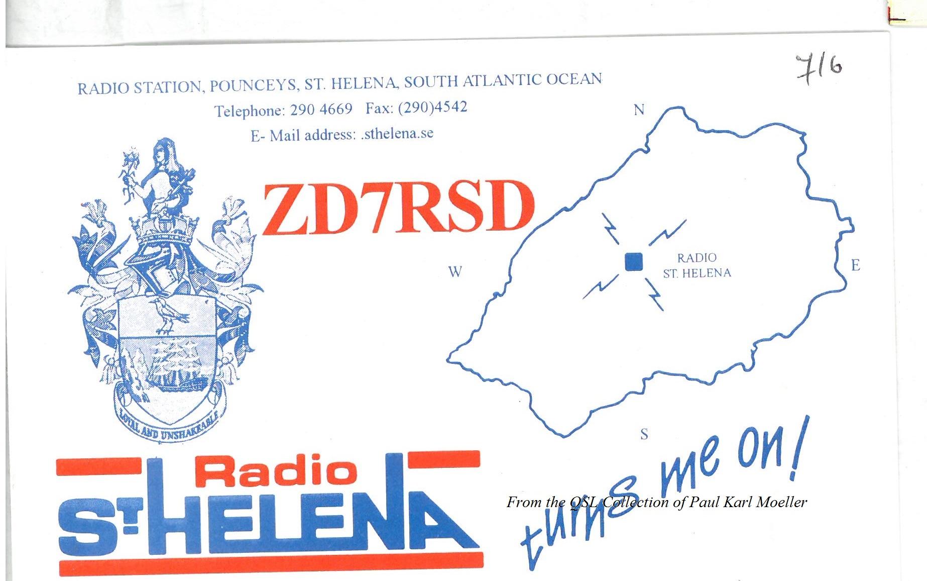 Radio St. Helena QSL