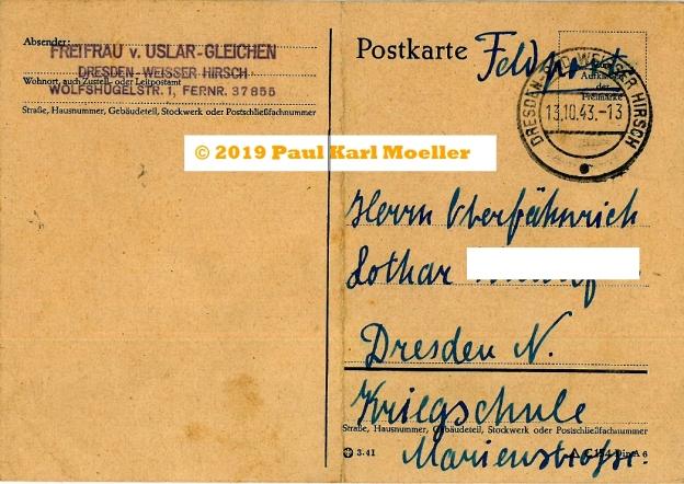 Baroness's Postcard